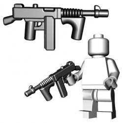 Lego Minifigure BrickWarriors - Gangster SMG (Steel)