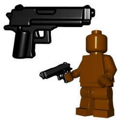 Lego Minifigure BrickWarriors - Combat Pistol (Noir)
