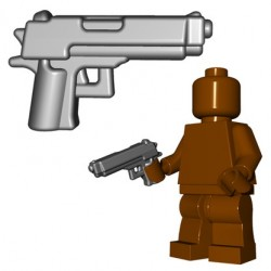 Lego Minifigs BrickWarriors - Combat Pistol (Steel)