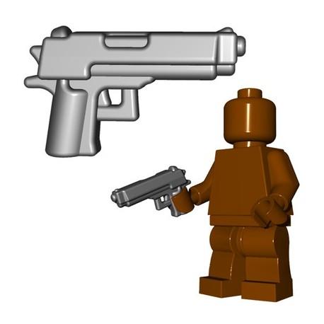 Lego Minifigs BrickWarriors - Combat Pistol (Steel)