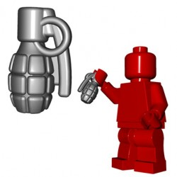 Lego Minifigures BrickWarriors - Frag Grenade (Steel)