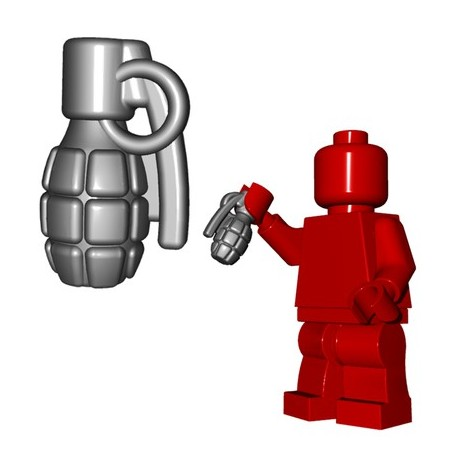 Lego Minifigures BrickWarriors - Frag Grenade (Steel)