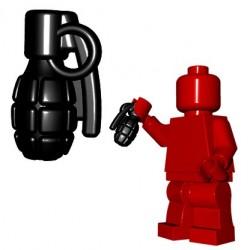 Lego Minifigure BrickWarriors - Frag Grenade (Noir)