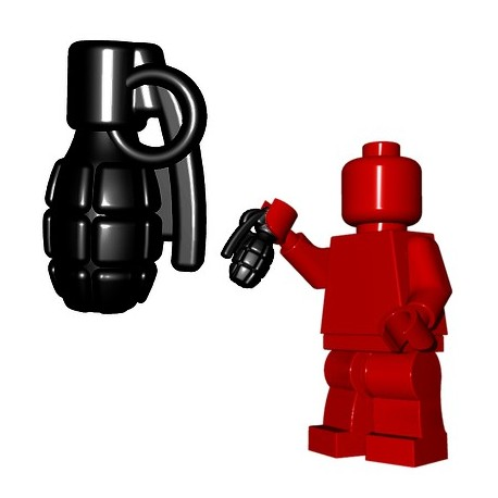 Lego Minifigure BrickWarriors - Frag Grenade (Noir)