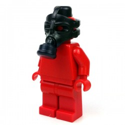 Lego Minifigure BrickWarriors - Masque à Gaz (Noir)