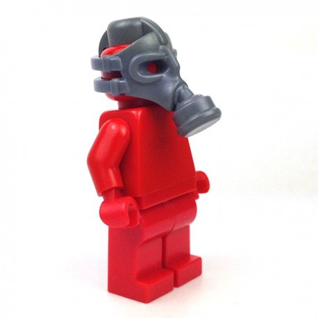 Lego Minifigure BrickWarriors - Masque à Gaz (Dark Bluish Gray)