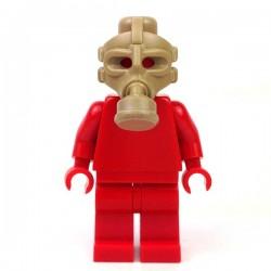 Lego Minifigure BrickWarriors - Masque à Gaz (Beige Foncé)