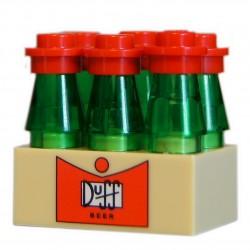 """Lego Minifig Accessoire Simpson Custom Bricks - Caise Bouteille Duff """"6 Pack"""" (Brique 2x6)"""
