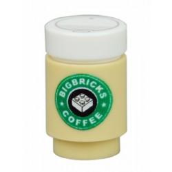 Lego Minifigure Custom Bricks - Café Big Bricks Coffee (Beige)