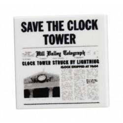 Lego Minifig Custom Bricks - Save the Clock Tower Flyer (Retour vers le Futur)