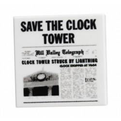 Custom Bricks - Save the Clock Tower Flyer (Back To The Future)