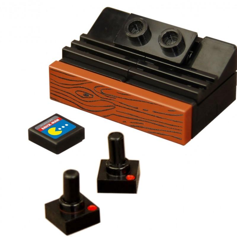 Lego custom bricks minifig console de jeu atari 2600 la for Consolle lago