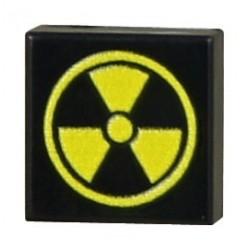 Custom Bricks - Radiation (Tile 1x1 - Black)