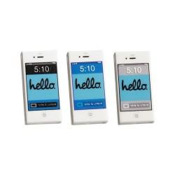 Custom Bricks - Set of 3 HELLO smartphones