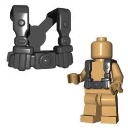 BrickWarriors - German Infantry Suspenders (Dark Bluish Gray)