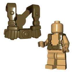 Lego Accessoires Minifigures - BrickWarriors - German Infantry Suspenders (Beige foncé)