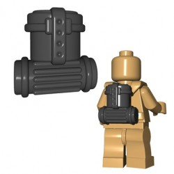 Lego Accessoires Minifigures - BrickWarriors - German Supply Pack (Dark Bluish Gray)