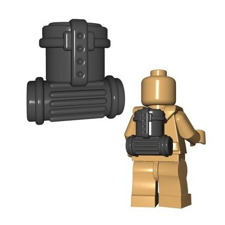 Lego Accessoires Minifigures - BrickWarriors - German Supply Pack (Dark Bluish Gray)
