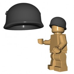 Lego Accessoires Minifigures - BrickWarriors - Casque Fallschirmjager (Dark Bluish Gray)