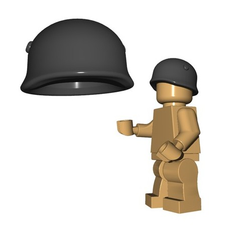 Lego Accessoires Minifigures - BrickWarriors - Casque Fallschirmjager (Dark Bluish Gray)