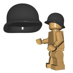 Lego Accessoires Minifigures - BrickWarriors - Casque US M1 (Dark Bluish Gray)