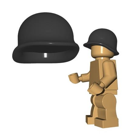 Brick Warriors - US M1 Helmet (Dark Bluish Gray)