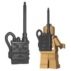 Lego Accessoires Minifigures - BrickWarriors - Radio Pack (Dark Bluish Gray)