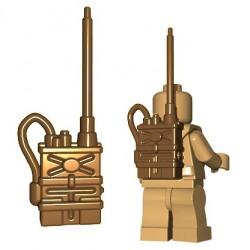 Lego Accessoires Minifigures - BrickWarriors - Radio Pack (Beige foncé)