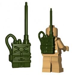 Lego Accessoires Minifigures - BrickWarriors - Radio Pack (Vert Militaire)