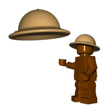 Lego Accessoires Minifigures - BrickWarriors - Casque Brodie (Beige Foncé)