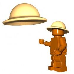 Lego Accessoires Minifigures - BrickWarriors - Casque Brodie (Beige)