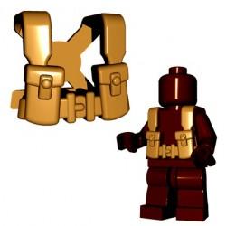 BrickWarriors - British Suspenders (Dark Tan)