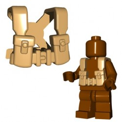 BrickWarriors - British Suspenders (Tan)