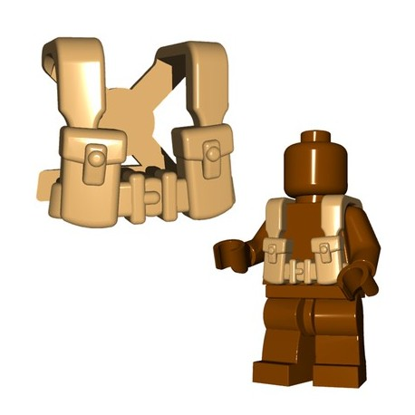 Lego Accessoires Minifigures - BrickWarriors - British Suspenders (Beige)