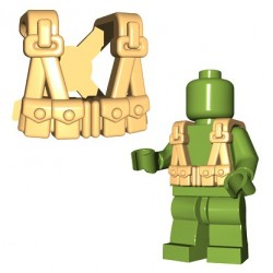 Lego Accessoires Minifigures - BrickWarriors - US Infantry Suspenders (Beige)