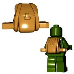 Lego Accessoires Minifigures - BrickWarriors - Rucksack (Beige foncé)