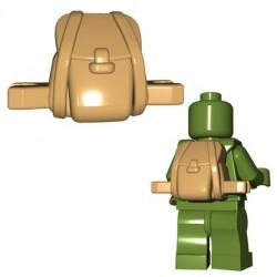 Lego Accessoires Minifigures - BrickWarriors - Rucksack (Beige)