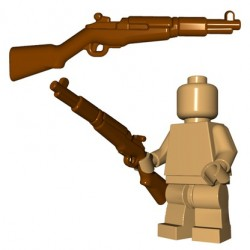 Lego Accessoires Minifigures - BrickWarriors - US Rifle (Marron)