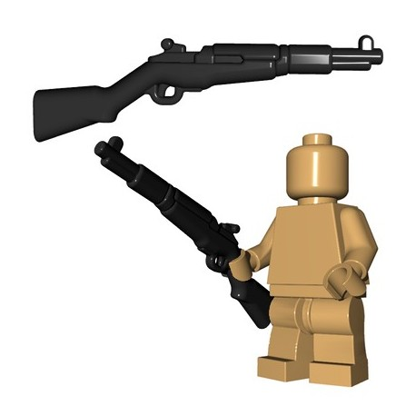 Lego Accessoires Minifigures - BrickWarriors - US Rifle (Noir)