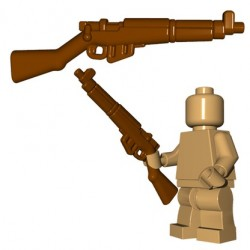 BrickWarriors - British Rifle (Brown)