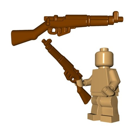 Lego Accessoires Minifigures - BrickWarriors - British Rifle (Marron)