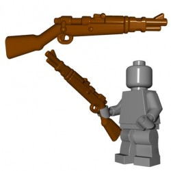 Lego Accessoires Minifigures - BrickWarriors - German Rifle (Marron)