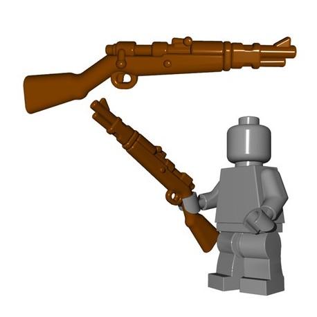 Lego Accessoires Minifigures - BrickWarriors - German Rifle (Marron)