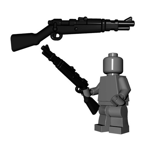 Lego Accessoires Minifigures - BrickWarriors - German Rifle (Noir)