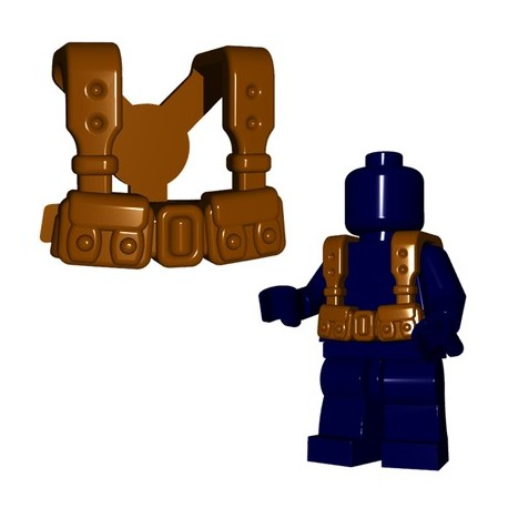 Lego Accessoires Minifigures - BrickWarriors - French Suspenders (Marron)