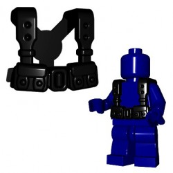 Lego Accessoires Minifigures - BrickWarriors - French Suspenders (Noir)