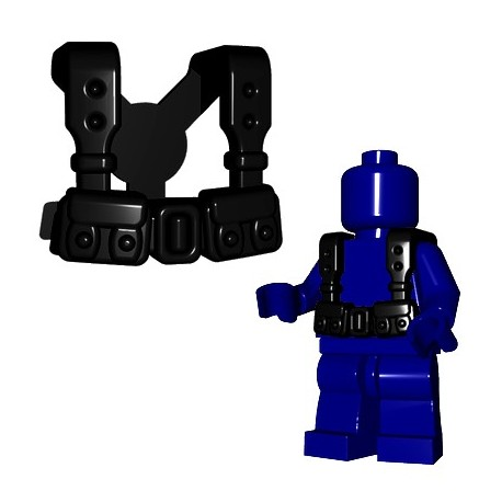 Lego Accessoires Minifigures - BrickWarriors - French Suspenders (Noir)