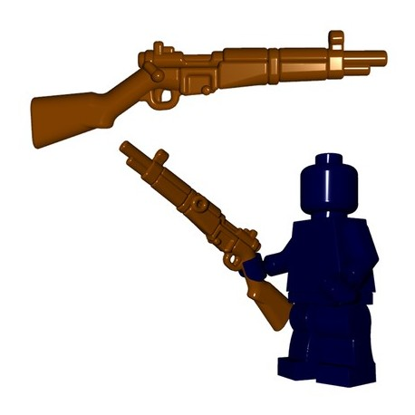 Lego Accessoires Minifigures - BrickWarriors - French Rifle (Marron)