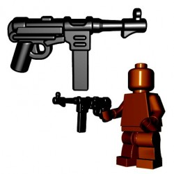 Lego Accessoires Minifigures - BrickWarriors - German SMG (Noir)