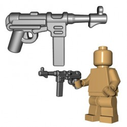 Lego Accessoires Minifigures - BrickWarriors - German SMG (Steel)